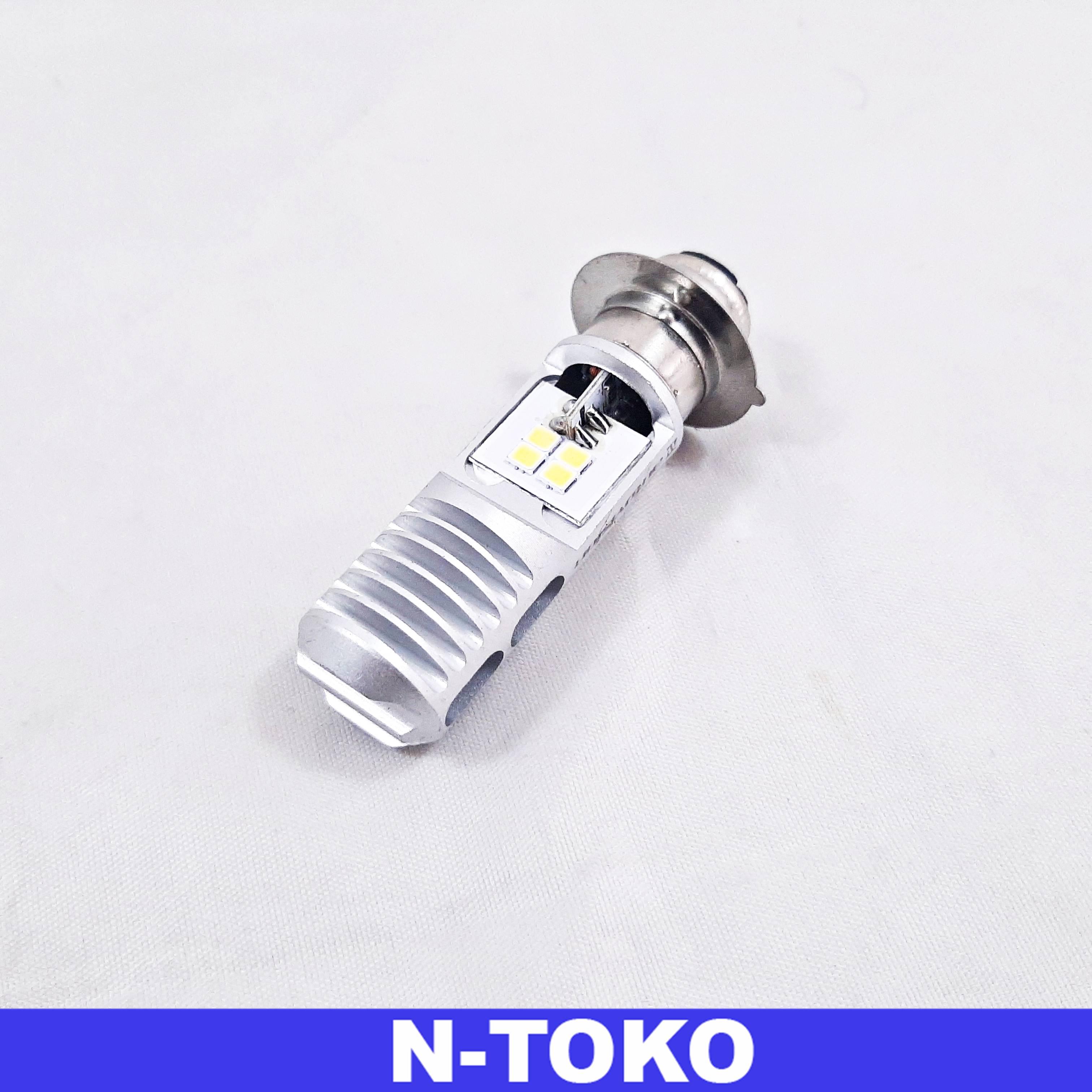 Lampu Bohlam LED Motor Bebek Matic Cahaya Putih Socket H6 Autovision