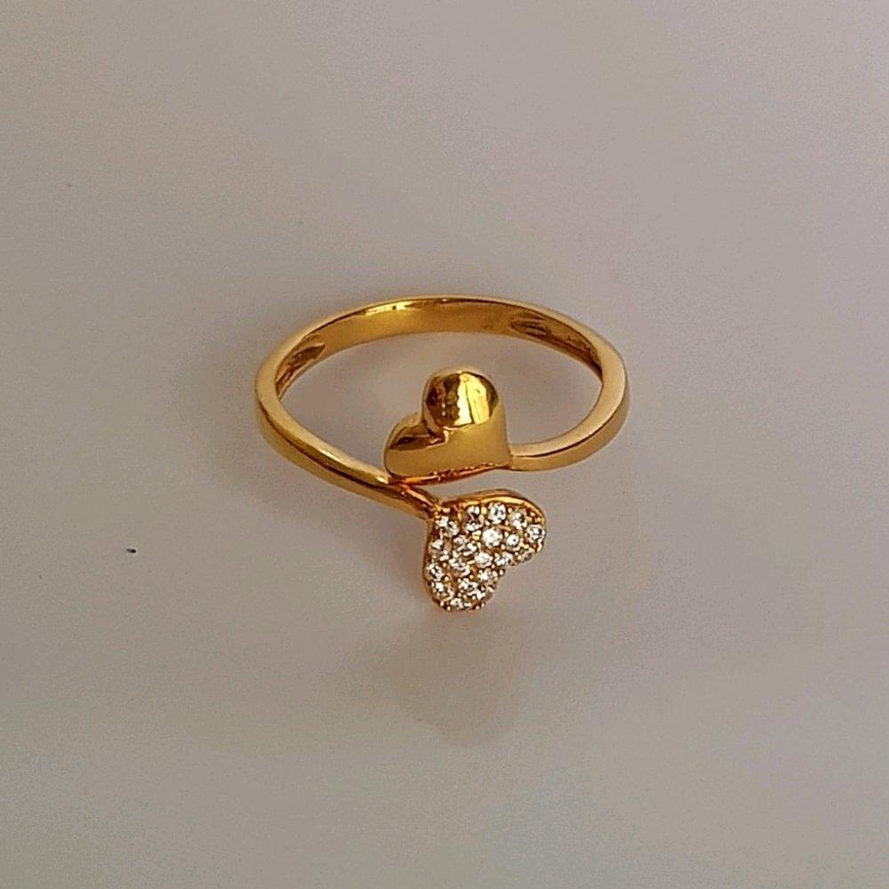 Size 15 Cincin Emas Asli Kadar 875 Loves Perhiasan Wanita Ring Gold Hadiah