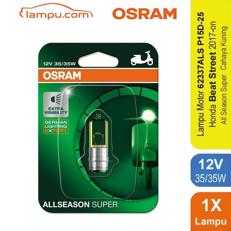 Osram Lampu Depan Motor Honda Beat Street 2017-On - 62337ALS - All Season Super