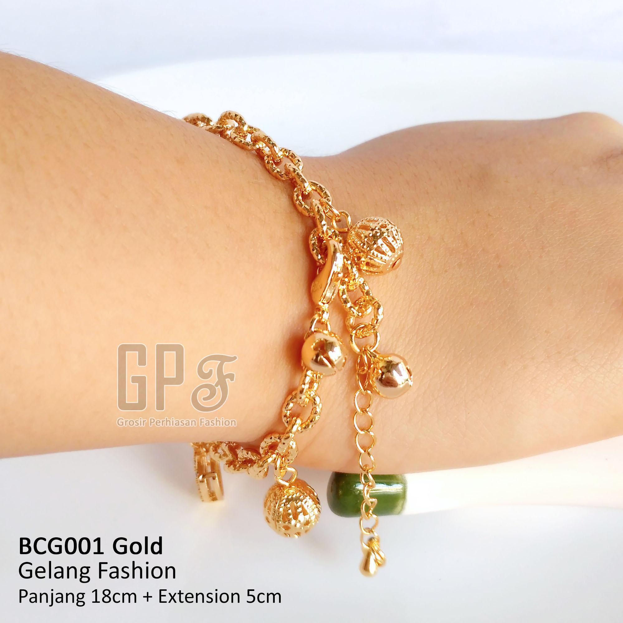 Gelang Wanita Emas Perak Perhiasan Fashion kualitas Bagus barang import anti karat anti alergi bcw001 gpf