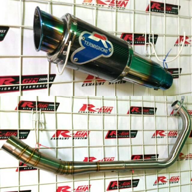 Knalpot Racing Termignoni Biru Carbon New Vixion R NVA NVL R15 New VVA V1 V2 V3 Las Cacing