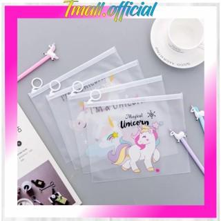 TMALL R079 Pouch Kosmetik Motif Pink Panther Unicorn Transparan ALU Import Murah thumbnail