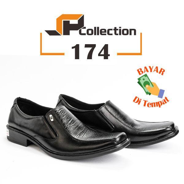 Sepatu Pantofel Kulit Asli Kualitas Import Harga Lokal   Sepatu Pantofel  Pria 174 - Hitam   43f94bd356
