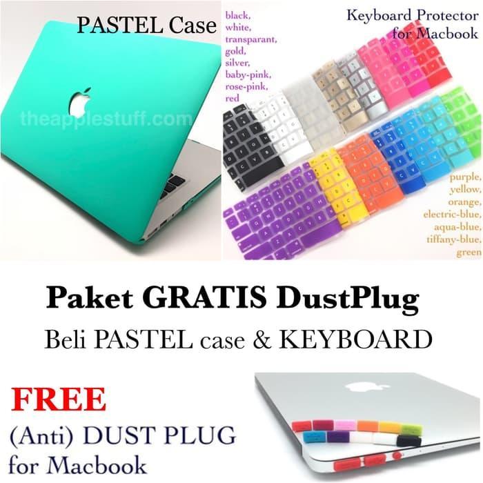Promo Termurah PAKET GRATIS DUSTPLUG MacBook PASTEL Case dan Keyboard