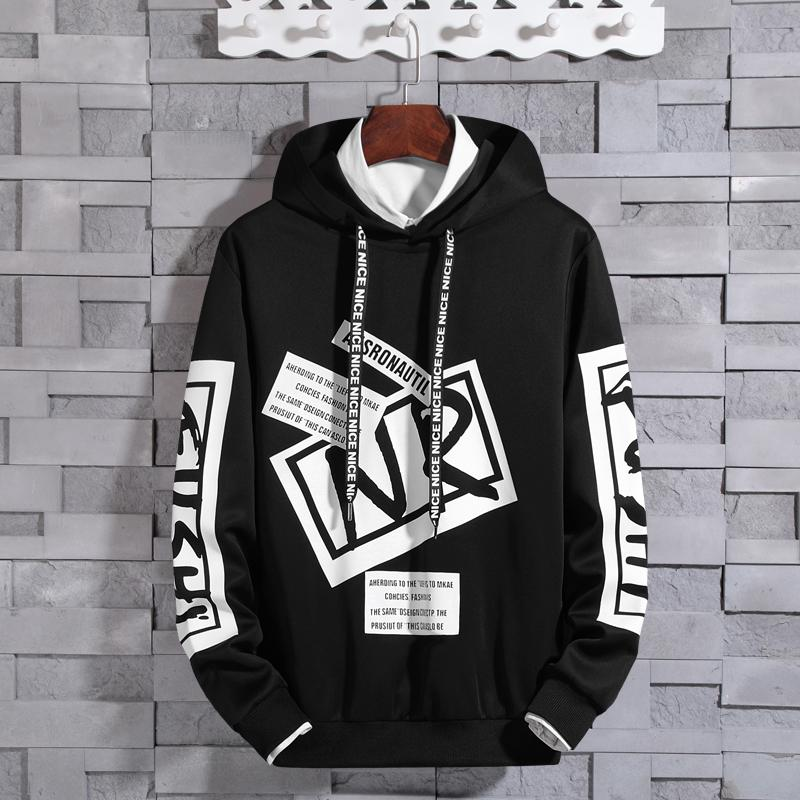 26643f687eb0 Je Teenager Sweater man Hooded Korean Style Trend Students Spring 2019 New  Style Pullover's Sweats &