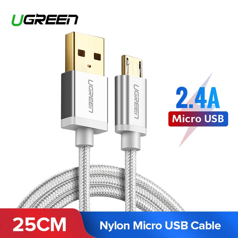 UGREEN 0.25M Kabel Data Micro USB for Xiaomi Redmi 5 Plus, Xiaomi Redmi 5, XIAOMI Redmi S2, XIAOMI Mi A2 Lite, XIAOMI Redmi 5A, Samsung J7, Vivo y83, Vivo v9, OPPO A77, Huawei nova 2i, Handphone Charger Cable Sync Data Charging Cable
