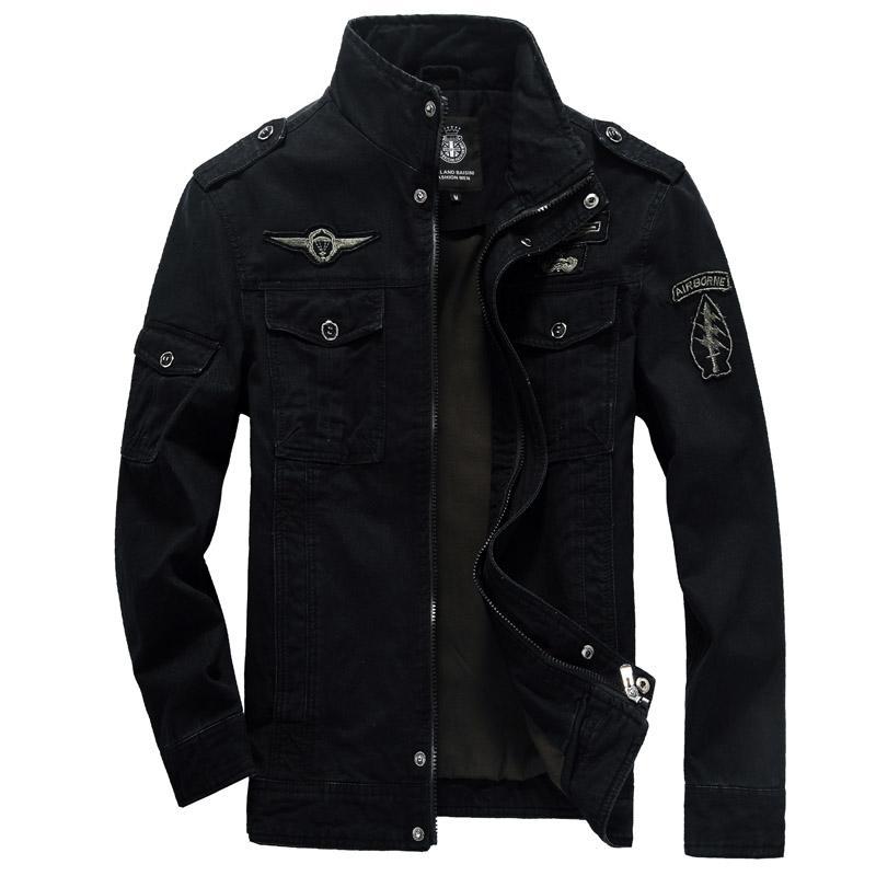 46590eccef1 Winter Jacket Men s Outerwear plus Velvet Pure Cotton Washing Large Size  Leisure Stand Collar Youth Men s