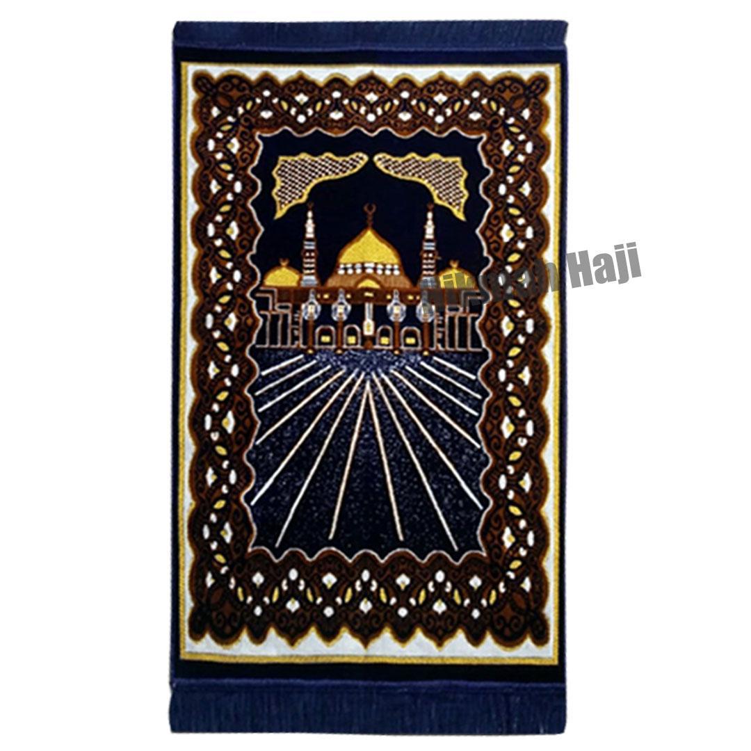 Sajadah Kano Gold Tebal Bulu Halus dan lembut Oleh Oleh Haji dan Umroh Made in Turkey (SKG001) Hikmah Haji