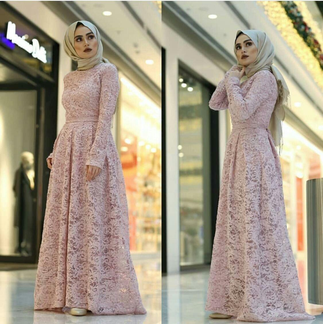Baju gamis brukat DORNAN/ gamis hijabera lucu cantik dan elegant/ baju  kondangan gamis pesta maxi brokat best seller/ baji gamis modern model  cantik/