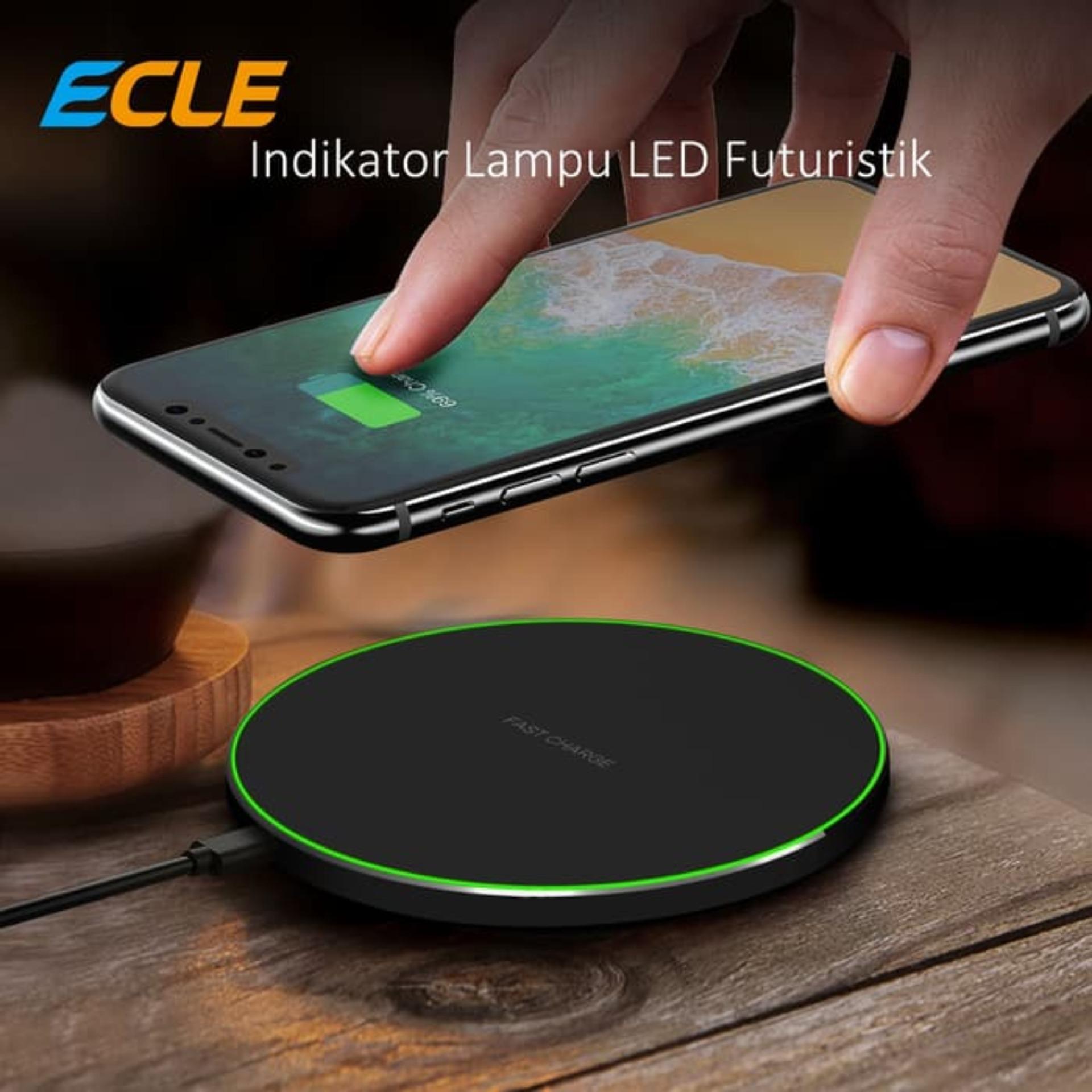 ECLE Wireless Charger Original, Pengisian Daya Cepat, Mudah Dibawa  (Portable), Cocok untuk iPhone XR/XS Max/XS/X/8/8 Plus, Samsung