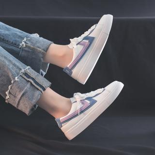 Mùa Xuân Mẫu Mới 2020 Giầy Nữ Giày Thu Giày Trắng Kiểu Mùa Thu Học Sinh Dễ Phối Mẫu Bán Chạy Mặt Da Giày Vải Bố Thủy Triều Giày Đế Bằng thumbnail