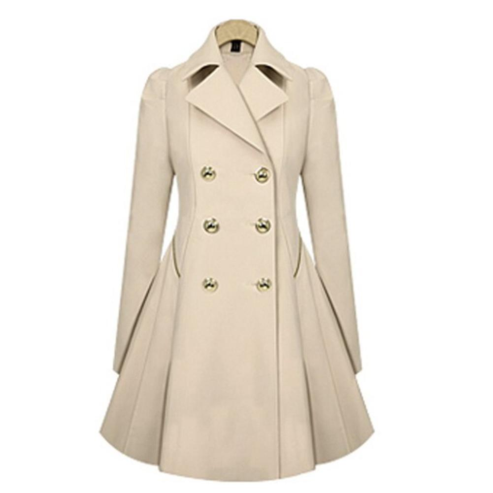 Big Sale Women Slim Fit Fashion Double-Breasted Coat Lapel Collar Windbreaker Suit By Four Season Big Sale.