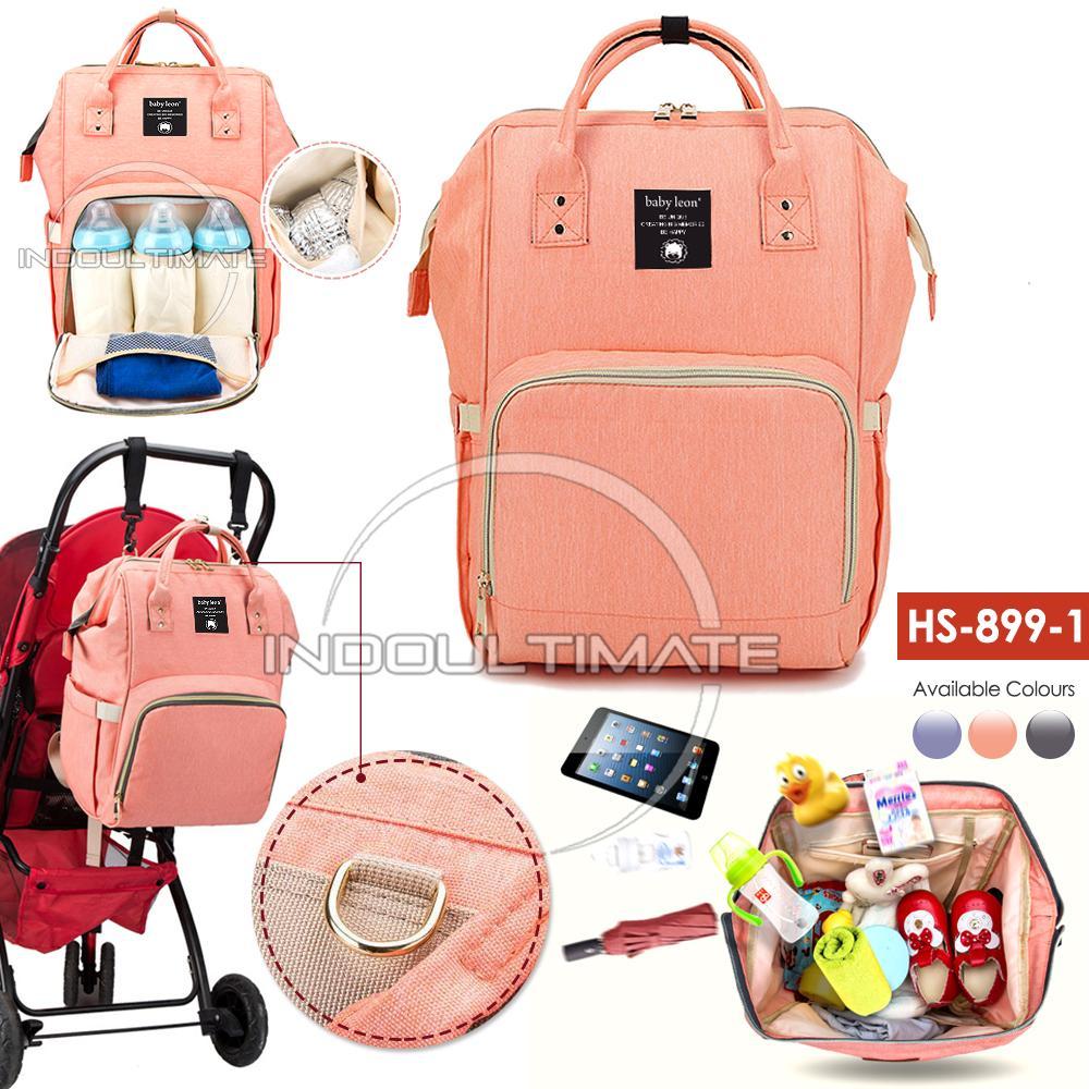Tas Bayi Backpack Baby Leon / Tas Perlengkapan Baby / Ransel / Tas Popok / Diaper Bag Fs Hs-8991 By Indo Ultimate.