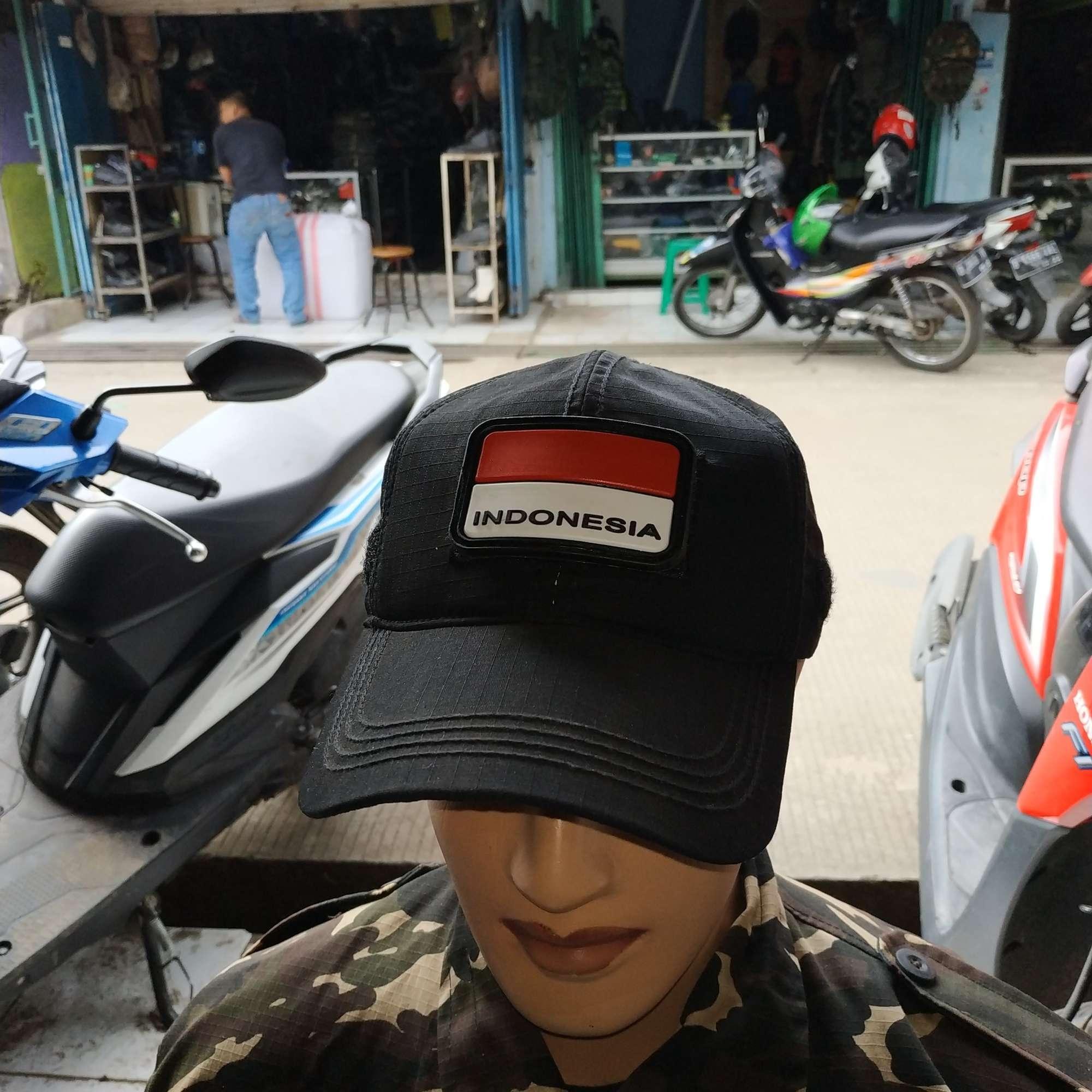 Topi Pet Hitam Polos Topi Tactical Hitam Polos Plus Ruber Indonesia