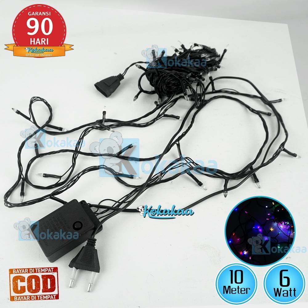 Surya Lampu Tumbler LED Twinkle ROCKET RGB STK-1001 Daya 6 Watt 100 Lampu Led 10 Meter