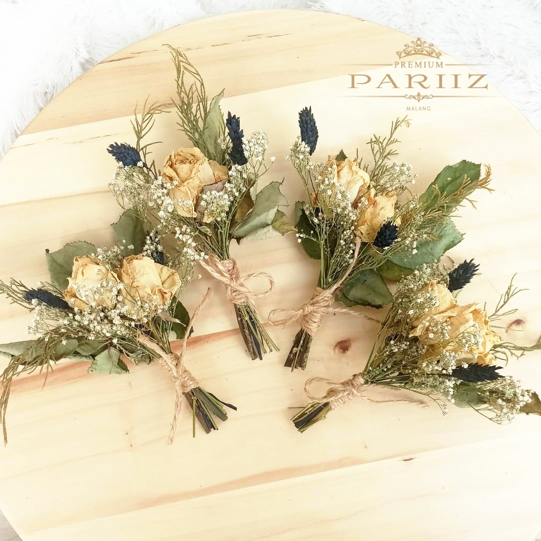 Mini Buket Bunga Kering Palaris Hitam Dried Flower Bouquet Lazada Indonesia