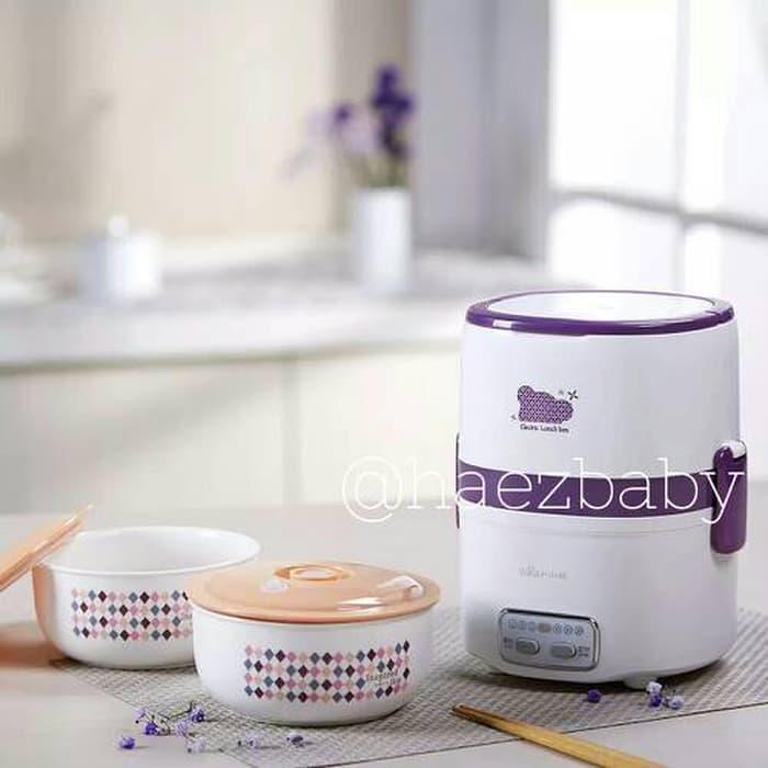 Peralatan MPASI Wajib Bear Porcelain Timer / Slow Cooker / Lunchbox Slow Cooker Murah