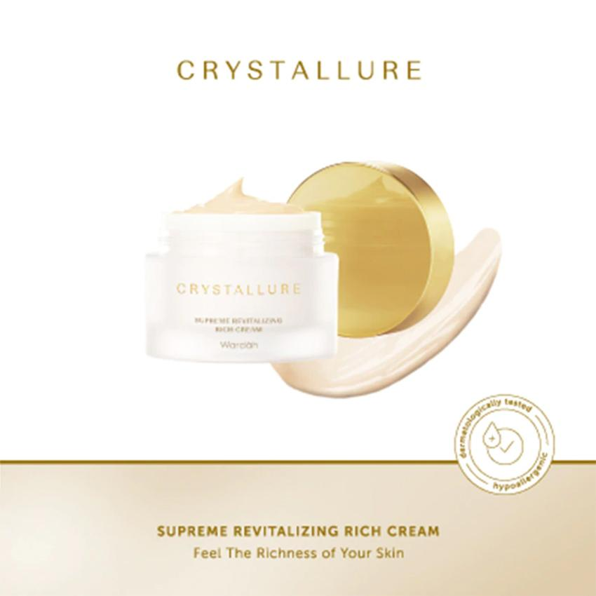 Crystallure by Wardah - Superme Revitalizing Rich Cream 50g - Cream Wajah - Skincare Glowing