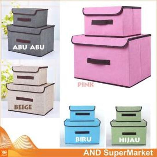 [kotak Set] Storage Bag Box Organizer Tempat Penyimpanan Multifungsi Serbaguna Baju Pakaian Mainan Diy Alat Kantor Set Dapat Kotak Besar Dan Kecil By Igrosir.