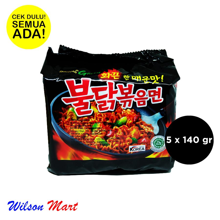 SAMYANG ORIGINAL HOT CHICKEN FLAVOR RAMEN KOREA ISI 5 X 140 GRAM PACK