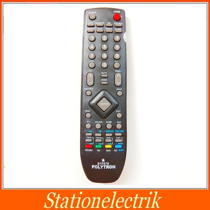 Polytron Remot LCD LED TV - Hitam Remote TV Polytron