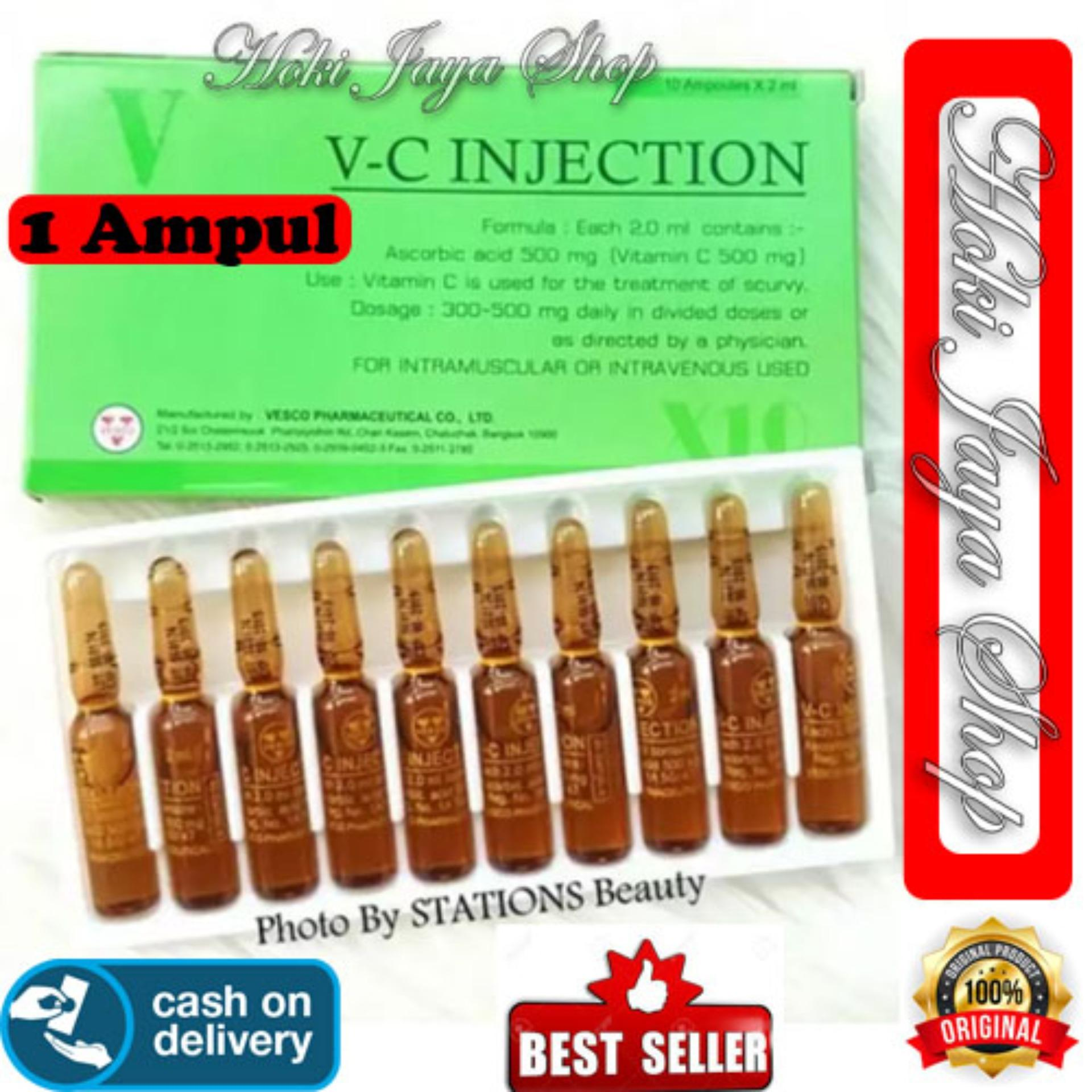 HOKI COD - VC Injection Isi 1 AMPUL - / Vitamin C Injection / VC Injeksi / Serum Vitamin C Ascorib Acid 100% Original Thailand - GM 1