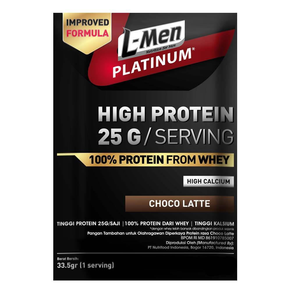 L-Men Platinum 25gr Protein - 1 Serving By Nutrifood Indonesia.