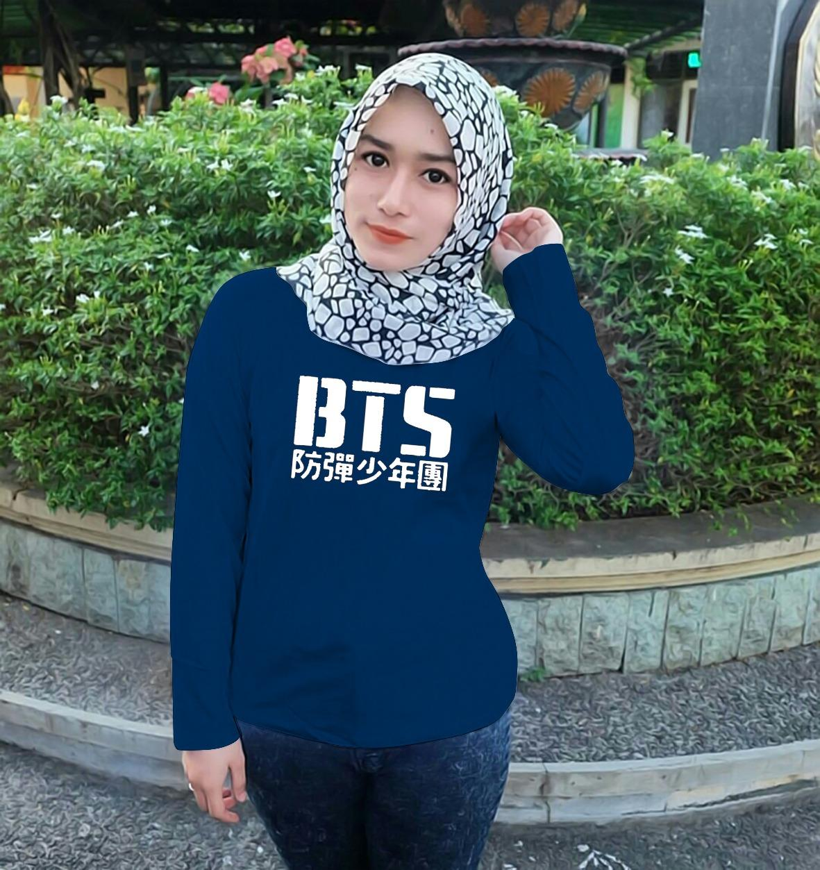 XV Kaos Wanita Tshirt XAVIER BTS KOREA LENGAN PANJANG / T-shirt Distro Wanita /