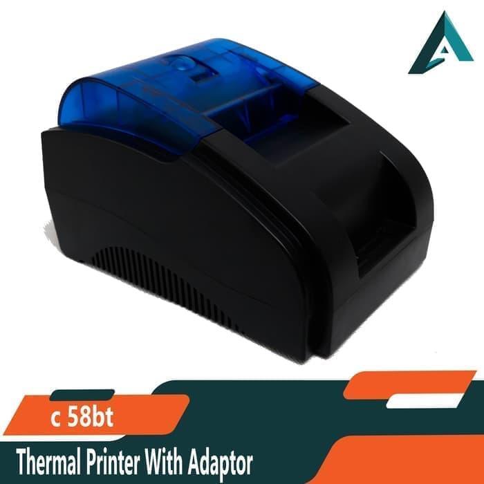 Thermal Printer Kasir C-58 BT Koneksi USB dan Bluetooth