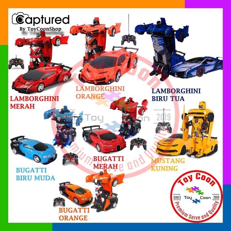 Mainan Remote Control / Rc / Rc Mobil / Rc Transformer / Rc Transform / Rc Deform / Rc Autobot / Rc Mobil Berubah Jadi Robot / Rc Mobil Robot / Mainan Mobil Lamborghini / Mainan Mobil Bugatti By Toycoonshop.