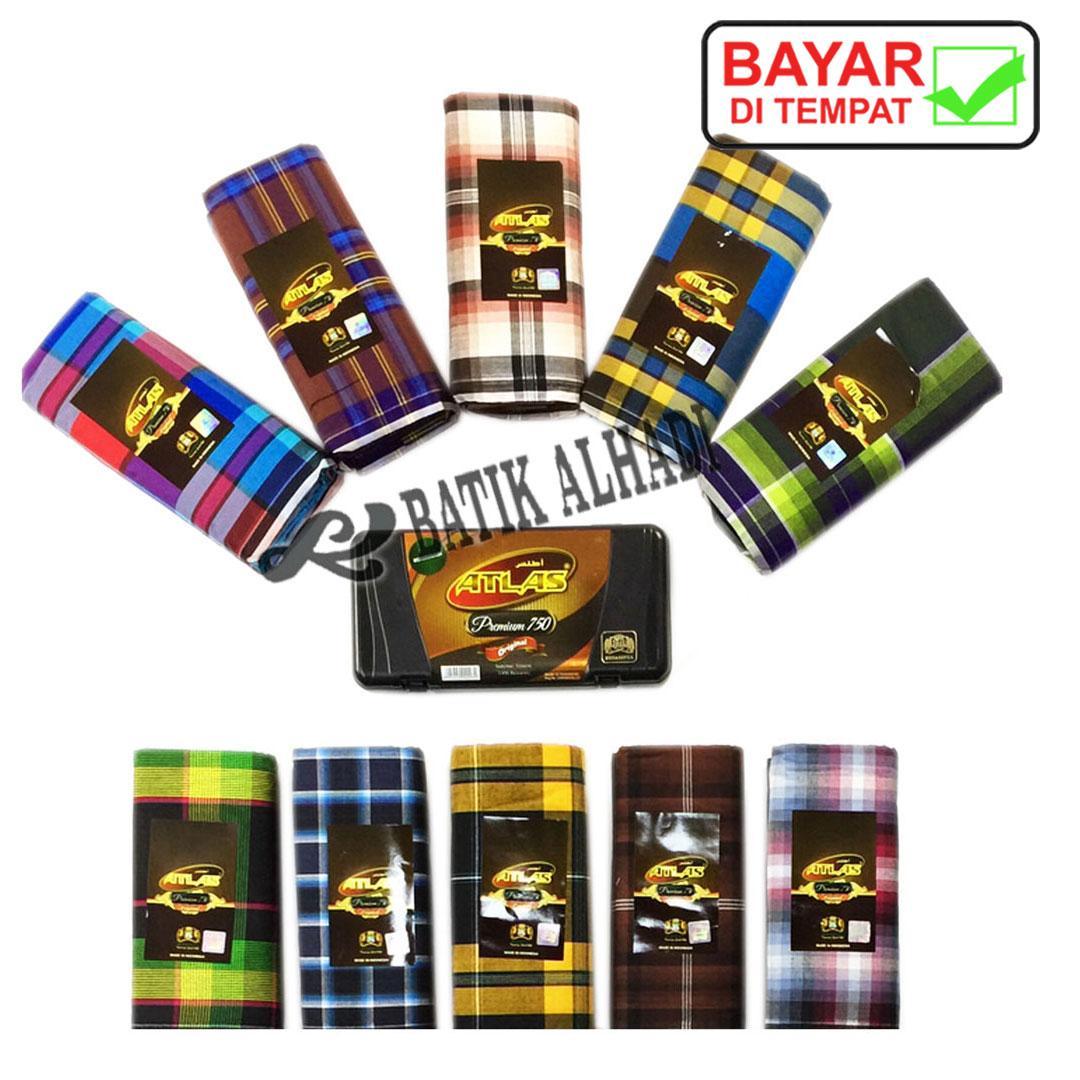 Sarung Tenun Dewasa Atlas Premium 750, Bahan Halus dan Lembut (SAL001-03) Batik Alhadi