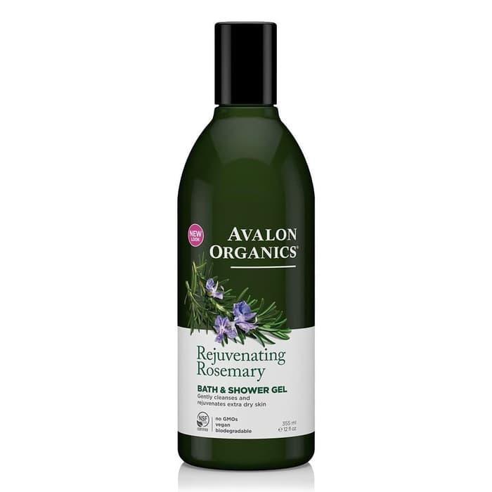 TERLARIS Rosemary Rejuvenating Organic Bath  Shower Gel, Avalon Organics - AHofdenu