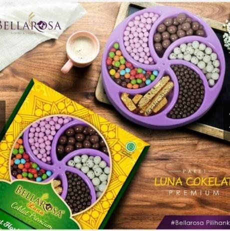 Promo Parsel Kue Lebaran Bellarosa Paket Luna Coklat Premium Paking Aman By Fasha Store.