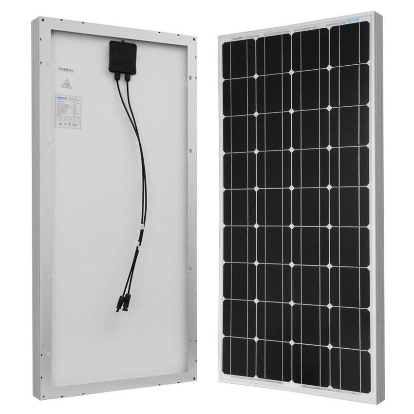 Solar Panel Monocrystalline 100 Wp Matahari Surya Cell Power Watt Peak By Klikmystore.com.