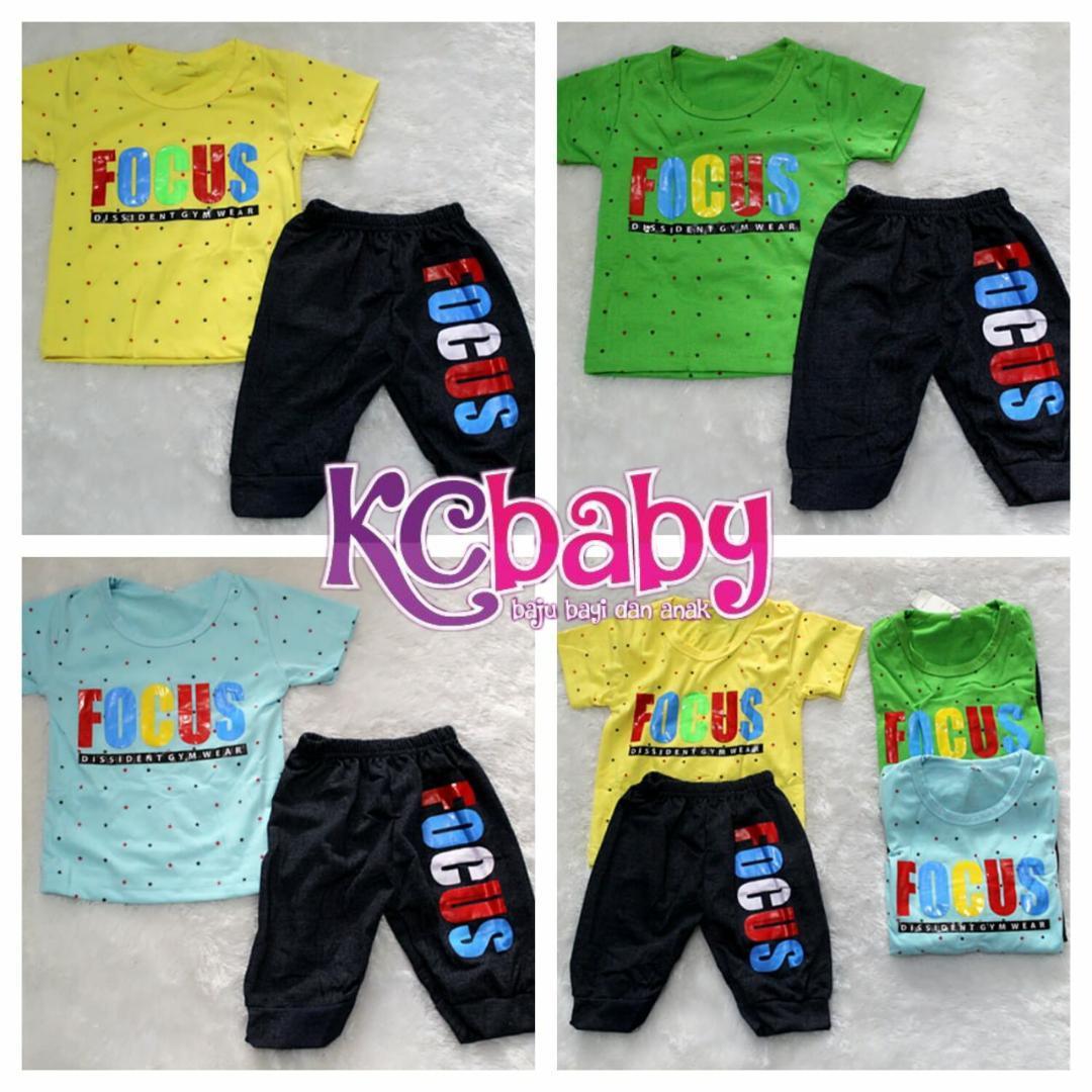 KC Baby - [ CUCI GUDANG - STOCK TERBATAS ] Baju Setelan Anak Laki-Laki Usia 6 Bulan - 5 Tahun / Setelan Baju Anak / Baju Anak / Kaos Anak / Motif Fokus