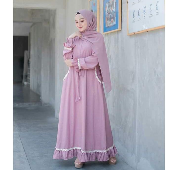 Baju Wanita Terlaris Gamis Renda Pakaian Wanita Baju Muslim Dres Lazada Indonesia