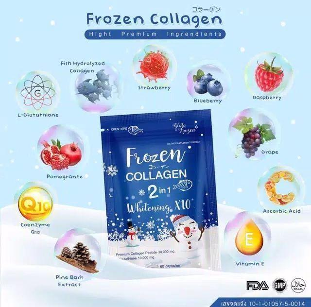 Gluta Frozen Collagen Original (isi 60capsule) By Gerai Lipstick