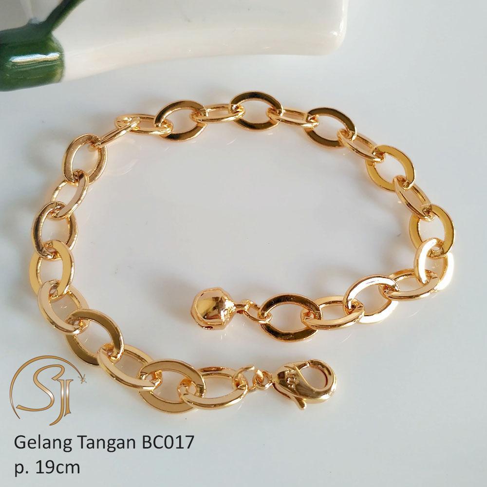 Xuping Jewelry Gelang Tangan Wanita Perhiasan Lapis Emas Gold Silver Titanium Bc017 By Shanel Jewelry.