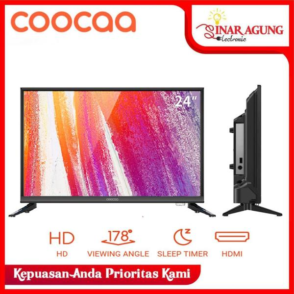 COOCAA LED TV 24 inch - HD Panel - USB/HDMI/VGA - Slim 24D3A / 24D