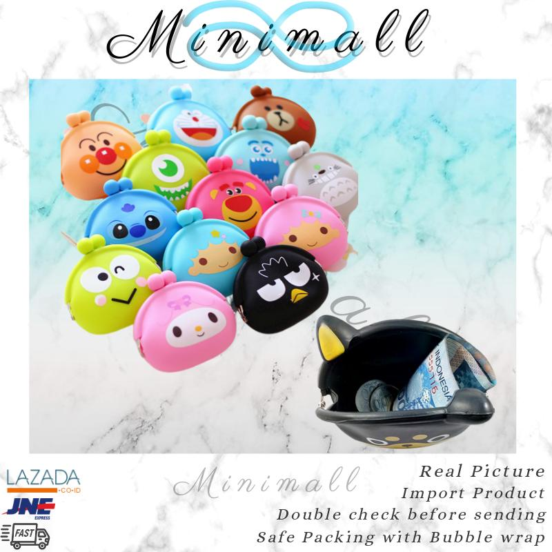 MINIMALL - 02 Dompet Koin Silikon / Karakter Imut / Coin Pouch / Trend Silicone /