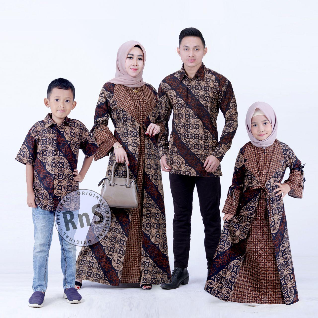 COD Batik Couple family / Batik Keluarga / batik gamis ibu anak / batik  anak / batik sarimbit/ Baju Batik Keluarga 8 set ortu + anak model terbaru