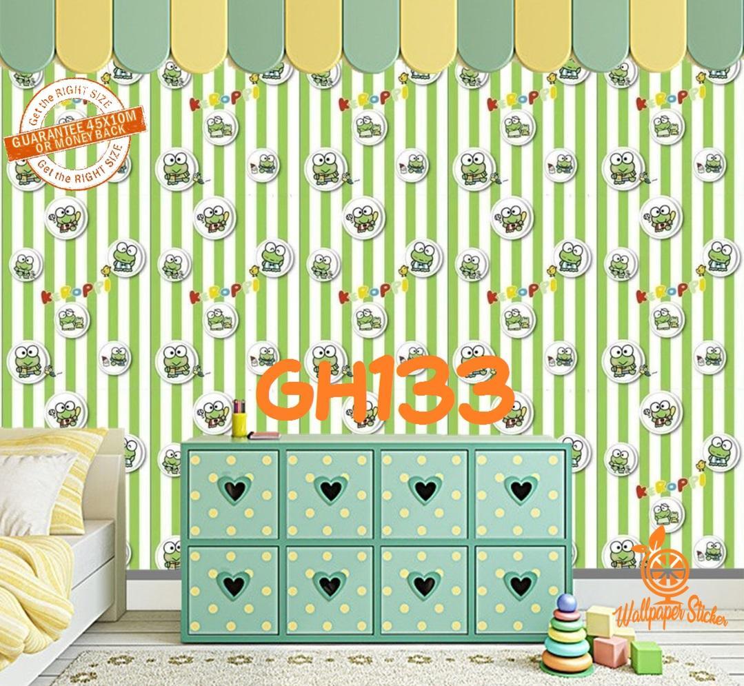 Wallpaper Stiker Dinding Motif Keropi Dan Karakter Premium Quality Size 45cm X 10m Stiker Dinding Motif Ruang Tamu Wallpaper Stiker Dinding Motif Kamar Tidur Modern Lazada Indonesia