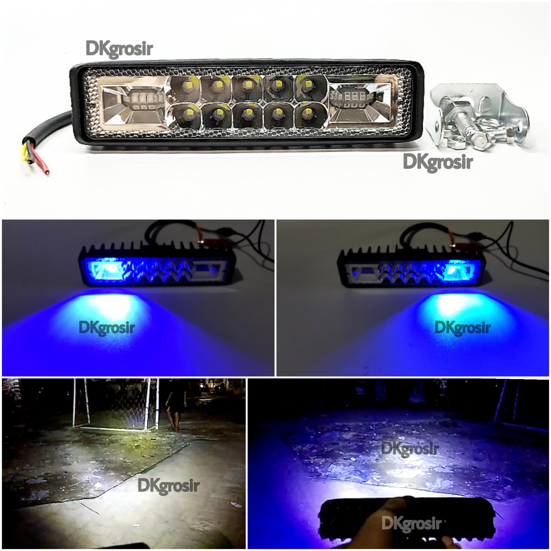 [ COD ] Lampu Tembak Sorot 10 Mata LED CWL Strobo Biru Kiri Kanan Slim Bar DKgrosir
