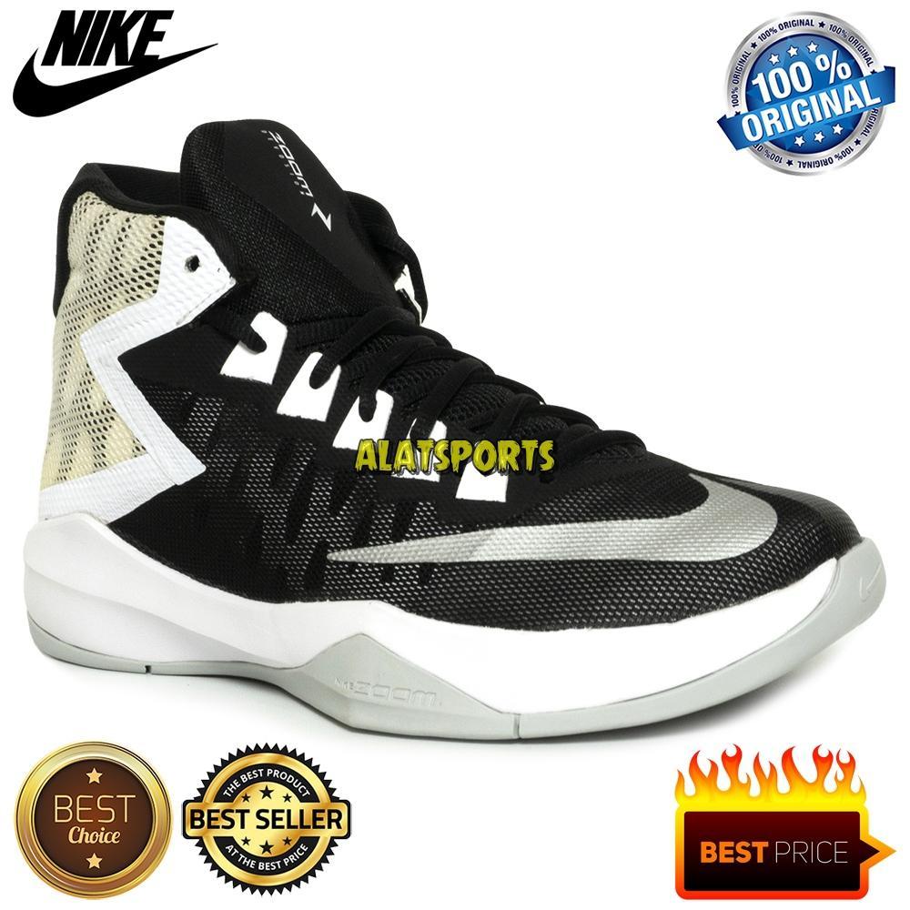 8e3b3147a53 Sepatu Basket Pria Nike Zoom Devosion 844592-001 - Black Slv - ORIGINAL