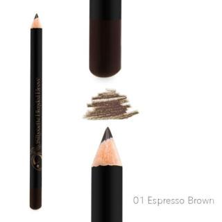 Madame Gie Pensil Alis Silhouette Blended Brow 01 Espresso Brown Waterproof Eye Brow Eyebrow thumbnail