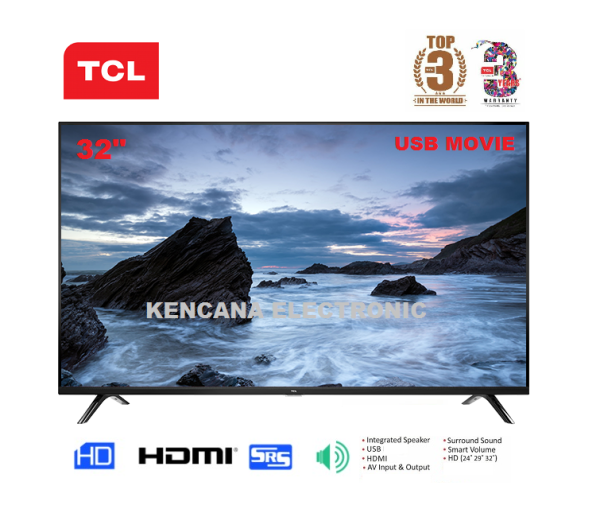 TCL L32D310 LED TV 32 inch USB Movie HD Ready-  FREE ONGKIR - Khusus JABODETABEK