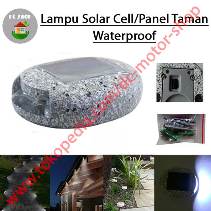 Lampu Batu Taman Dinding Tenaga Surya/Solar Panel/Cell Waterproof - sedia paket lengkap power bank 900 mini 100wp 12v cas hp paket mini charger aku cell terumah raman terbesar transparan portable pembangkit listrik harga promo