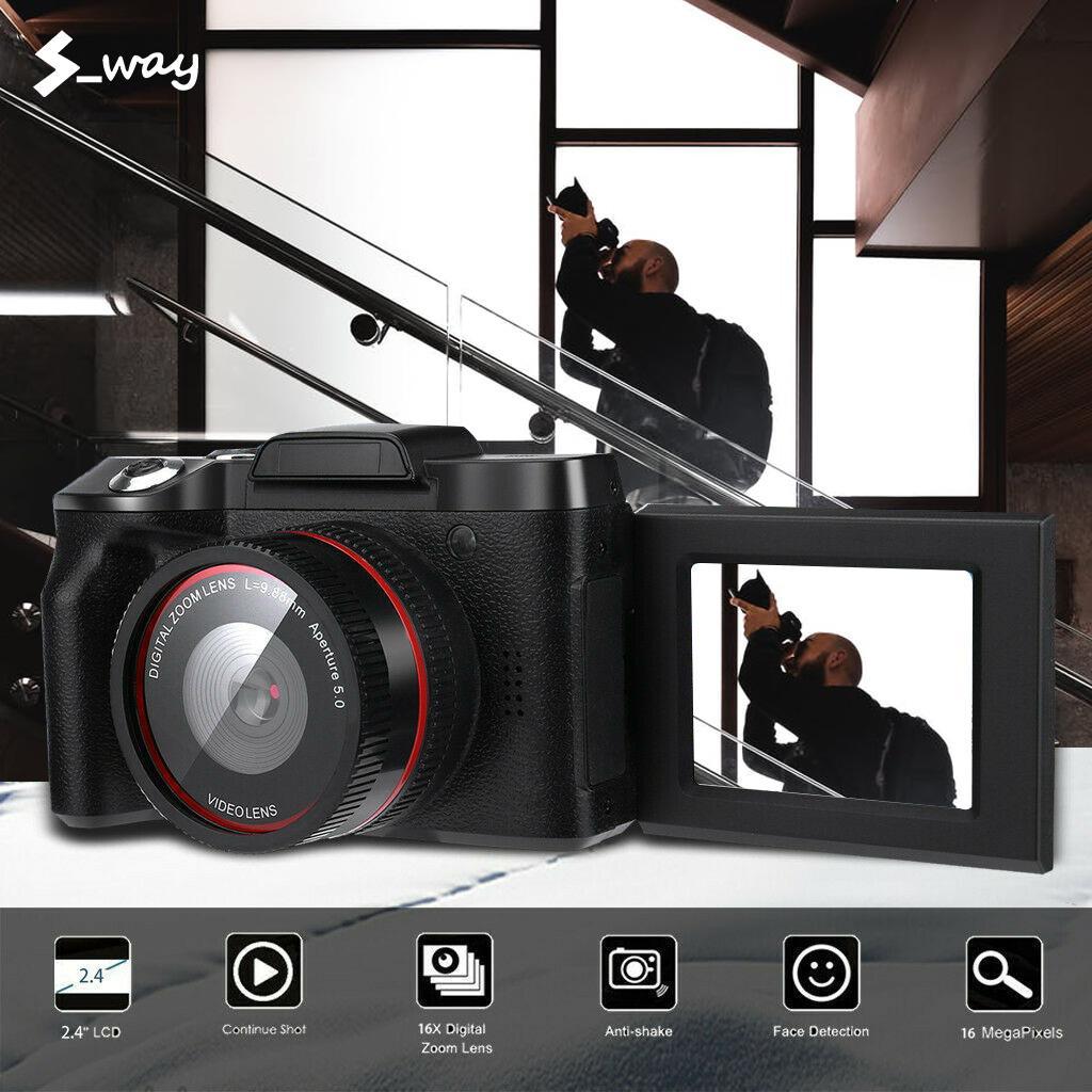 Máy Ảnh Kỹ Thuật Số S _ Way 2.4 Inch, Màn Hình TFT LCD Full HD 1080P, Phóng To 16 Lần, Có Thể Lật Được Với Giá Sốc