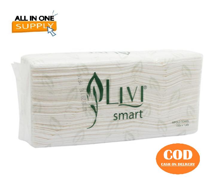 [cod] tissue livi multifold htowel 150 sheet / tissue wastafel / tissu makan livi / tisu gorengan