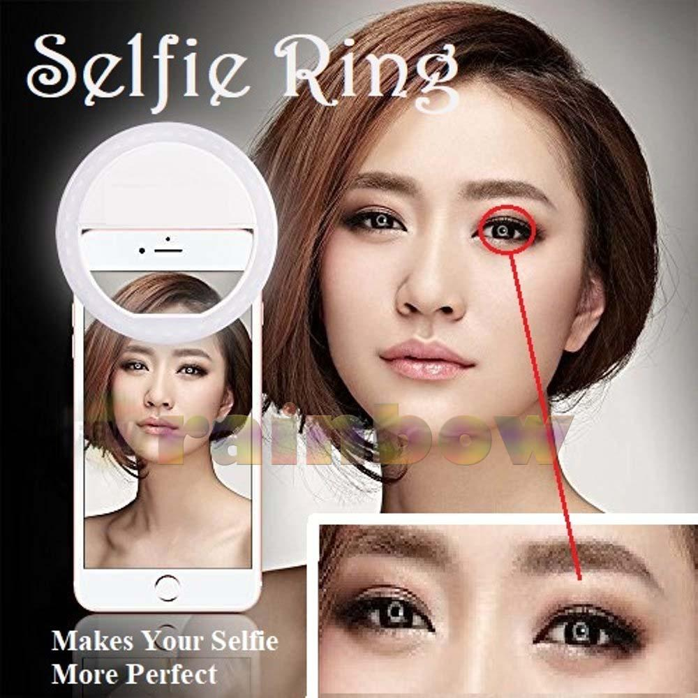 1 Pcs Lampu Selfie 36 Led Portable Clip - Lampu Selfie Battery - Ring Light Lampu Selfie Ring Terbaik Ringlight Eye Light Live Show Lampu Selfie Untuk Semua Handphone Komputer Tablet - Random Color By Rainbow.